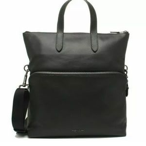 COACH Men Graham Foldover Tote Smooth Calf Leather